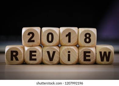 Business concept of 2018 review title text.