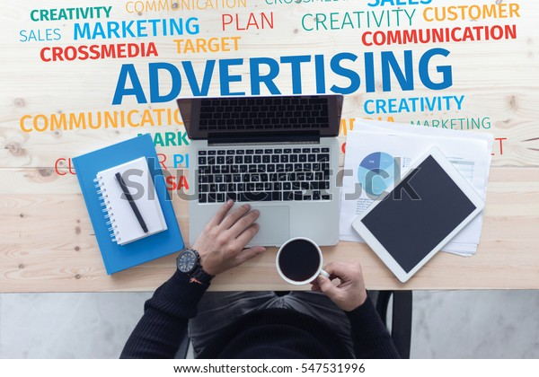 Business Concept: Advertising Word Cloud