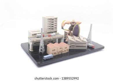 Business Concept Architecture Scale Model Building for Presentations