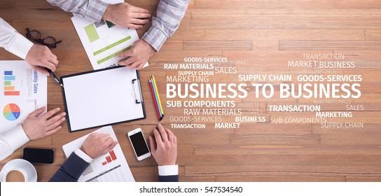Business Concept: B2B Word Cloud