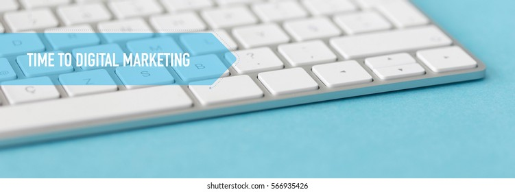 BUSINESS CONCEPT BANNER: TIME TO DIGITAL MARKETING