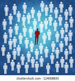 Business concept of being different | standing out from the crowd