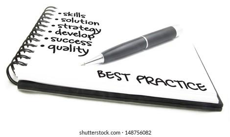 business concept - best practice