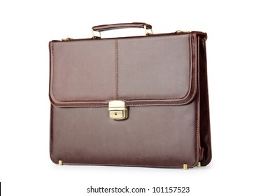 Business concept with briefcase on white