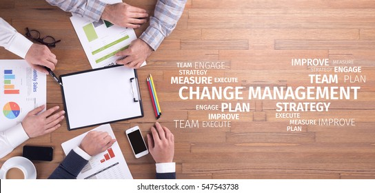 Business Concept: Change Management Word Cloud