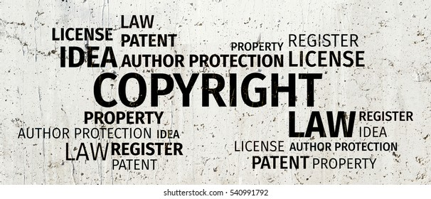 Business Concept: Copyright Word Cloud