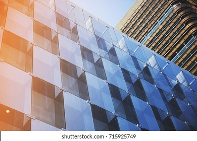 Business concept - corporate shapes of a corporate building in Madrid;