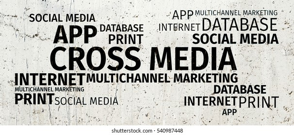 Business Concept: Cross-Media Word Cloud