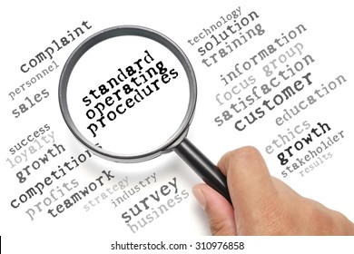 Business concept, customer satisfaction focusing on Standard Operating Procedures