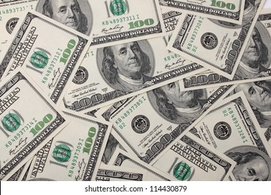 Business concept in a dollars background