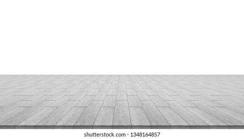 Business concept - empty stone floor top isolated on white background for display or mockup product - Shutterstock ID 1348164857