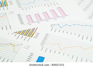 Business concept, financial charts and graphs as a background