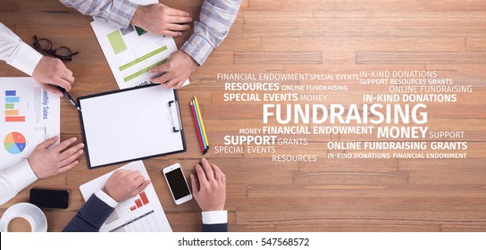 Business Concept: Fundraising Word Cloud