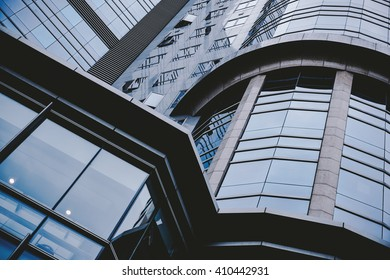 Business concept - glass building in detail