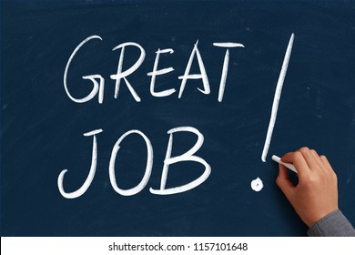 Business concept of great job writing text.