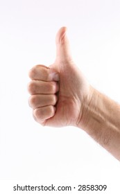 Business concept - hand gesture - thumbs up