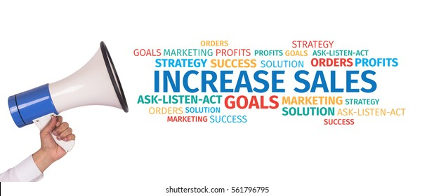 Business Concept: Increase Sales Word Cloud