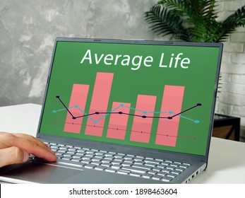 Business concept meaning Average Life with inscription on the piece of paper.