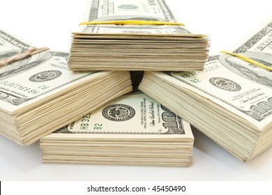 business concept. lot of money, american dollars