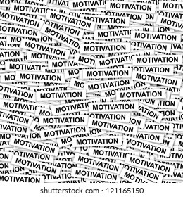 Business Concept Present By Group of Motivation Label Background