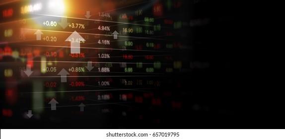 Business concept of stock market background design