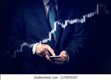 Business concept, Stock trading.