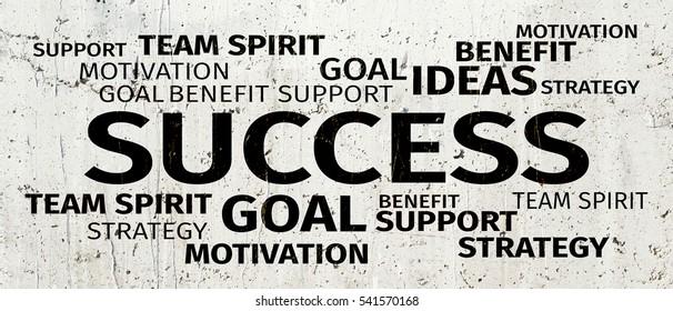 Business Concept: Success Word Cloud