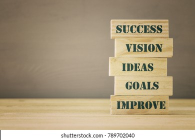 Business concept with success words