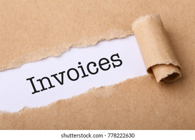 Business concept with text Invoices.
