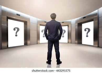 business concept,business man  choosing the right choice
