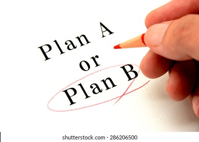 Business concepts, choosing plan A or B