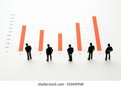 Business concepts, sales report and annual income