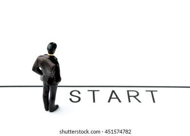 Business concepts, start line
