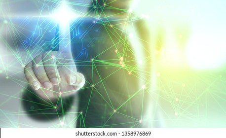 Business connection concept. Social network