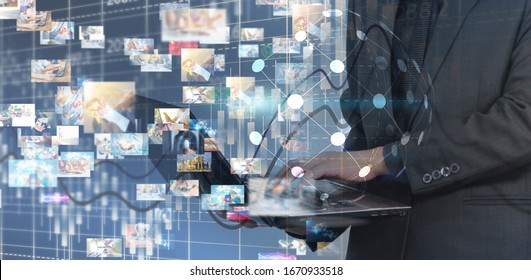 Business connection concept. Social network concept. globalization business.