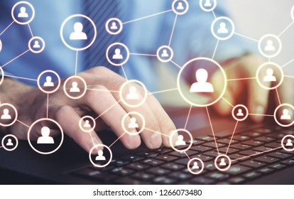Business connection and social network.