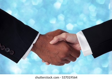 business cooperate with sparkling background.