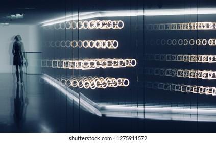 Business Corridor Abstrakt