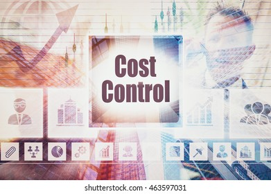 Business Cost Control collage concept