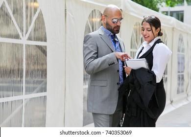 Business Couple Partnership Outdoor Concept