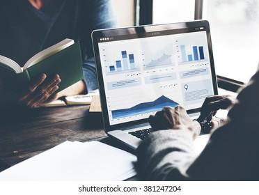 Business Coworking Laptop Finance Partnership Concept
