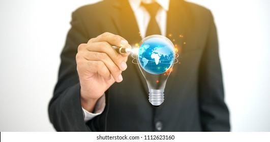 Business Creativity. New idea concept