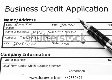 Business Credit Application Banking Financial Services Stock Photo