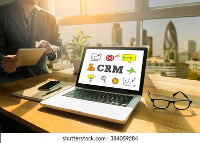Business Customer CRM Management Analysis Service Concept , Thoughtful male person looking to the digital tablet screen, laptop screen,Silhouette and filter sun