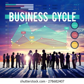 Business Cycle Progress Process Strategy Concept