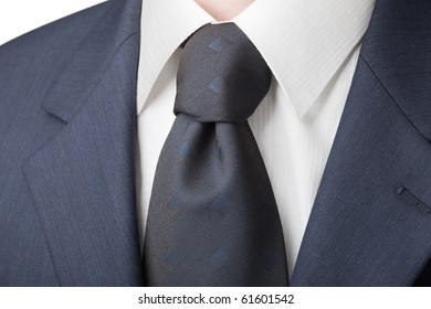 Business daily menswear: shirt, tie and jacket. Chemise has the texture of the cell