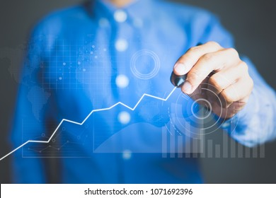 Business data analysis technology, Key performance indicators and growth concept.