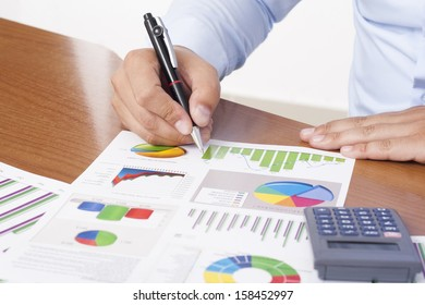 Business Data Analyzing - Stock Image
