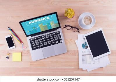 Business desk concept - AUDIENCE