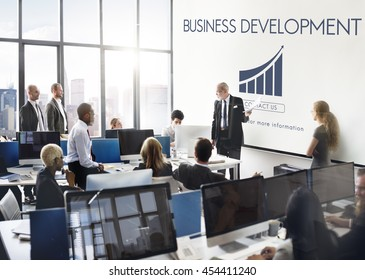 Business Development Startup Growth Statistics Concept